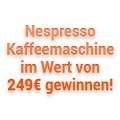 Kaffeeautomaten Gewinnspiel - Gesamtwert € 249